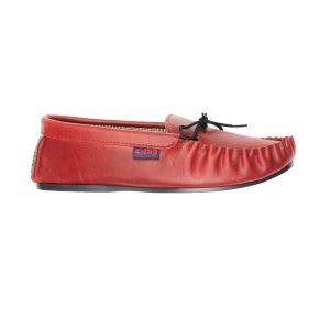 Dark red moccasins   Mabu Leathers