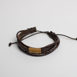 "Essentials: Men's ""Anchor"" Leather Bracelet"