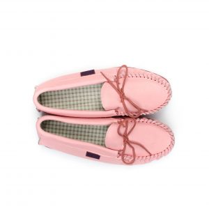 Pink Leather Moccasin