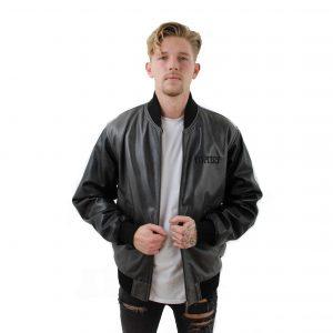Bomber Long MABU Leather Jacket