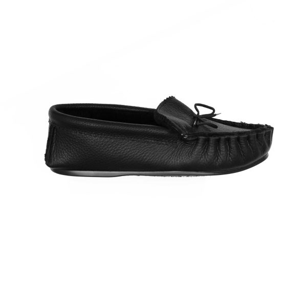 Triple Black Suede Moccasins lined with Real Sheepskin