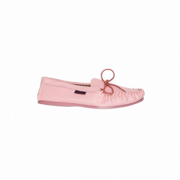 Pink Leather Moccasins | Mabu Leathers