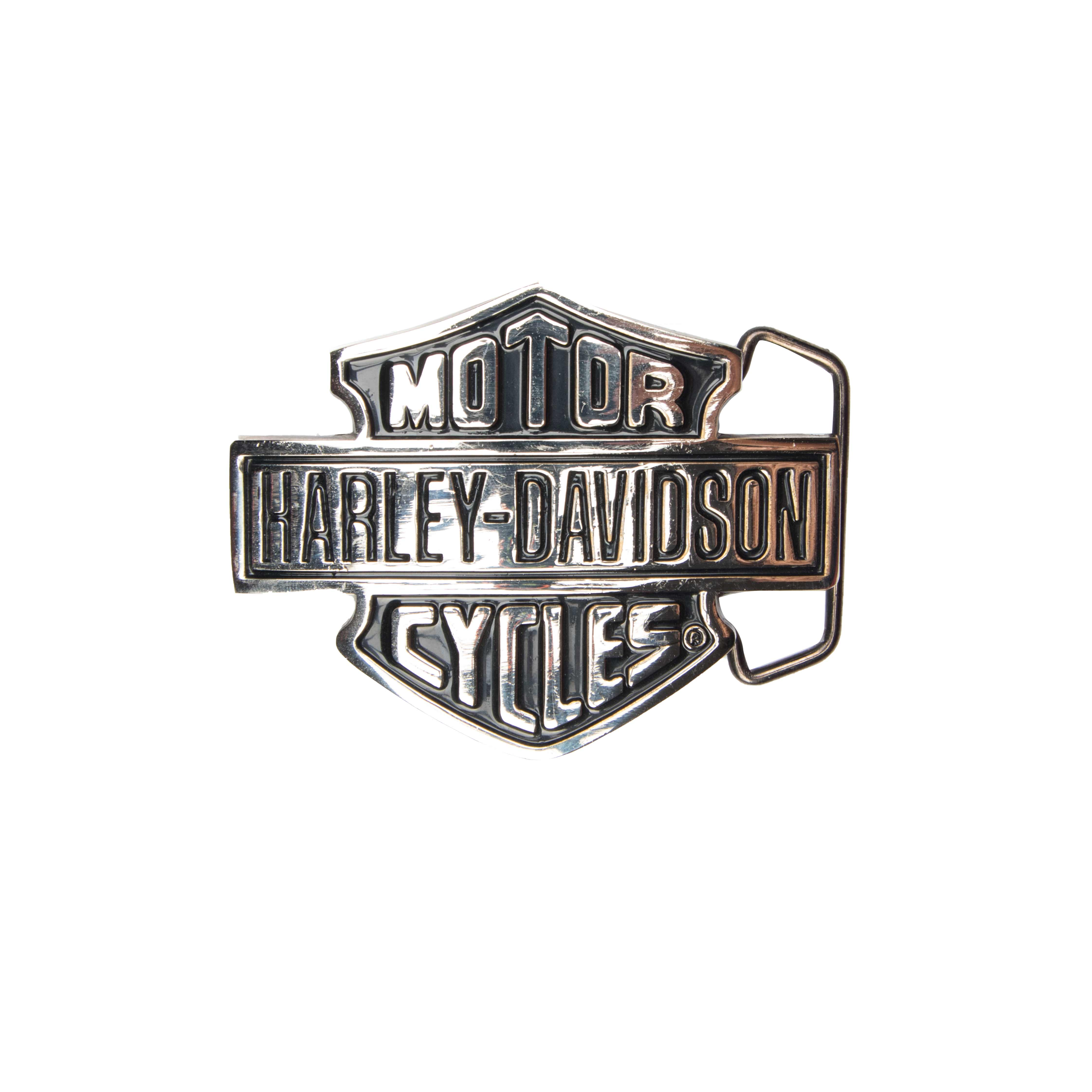 Harley-Davidson Silver/Black H302 Solid brass Belt Buckle